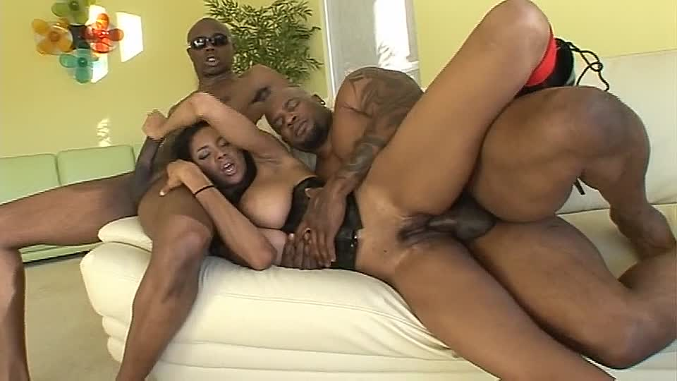 Johnny and tyra moore are having nice interracial sex